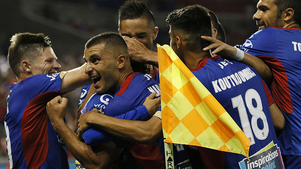 A-League: Newcastle Jets rob Central Coast Mariners in F3 derby