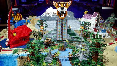LEGO Masters Australia 2021 Season 3 A Hero's Quest Challenge Michael and Harrison