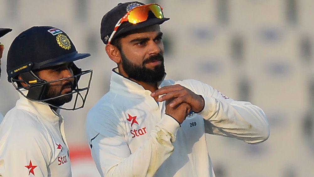 India captain Virat Kohli signals for a review. (AFP)