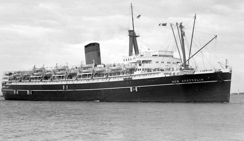 The ship which brought Yvonne and hundreds of other children to Australia.