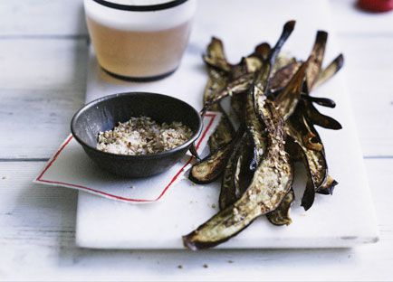 Japanese eggplant chips with sesame salt