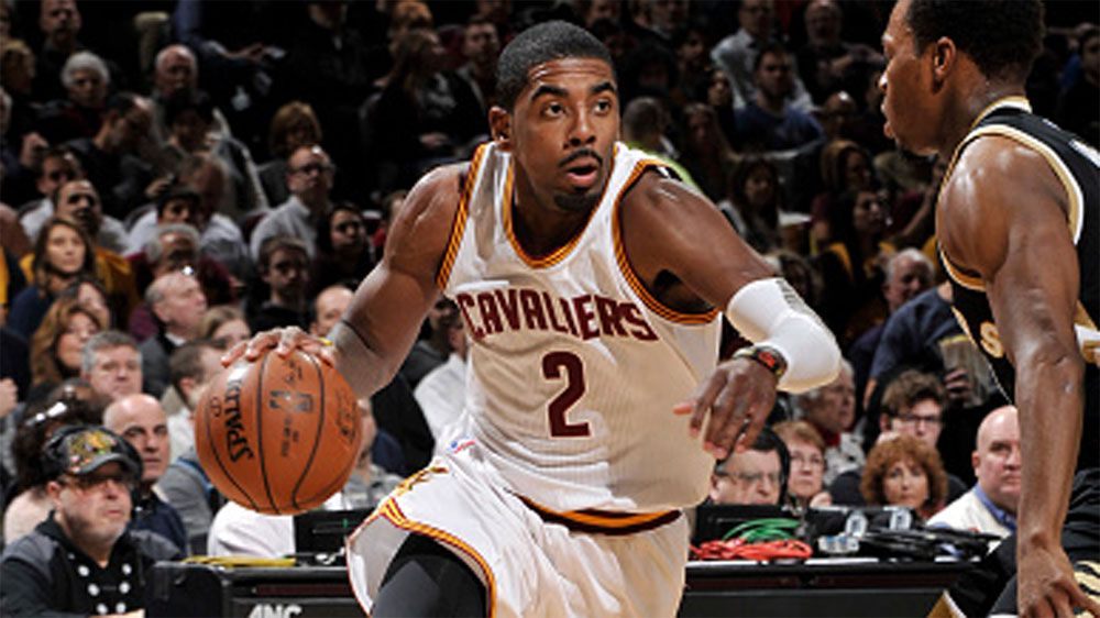 Kyrie Irving in action against the Raptors. (Getty)