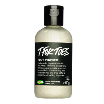 "<a href=""https://au.lush.com/products/t-toes"" title=""T for Toes odour powder, LUSH"">T for Toes odour powder, LUSH</a>"