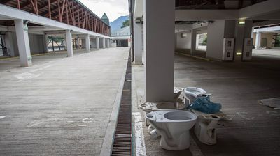Almost six months on from the Games and with the world's focus now speculating about Rio 2016, a photo series Russian photographer Alexander Belenkiv has painted a bleak picture of the abandoned former host city, strewn with toilets that were never installed and stacks of bricks that never became walls. (Alexander Belenkiv)