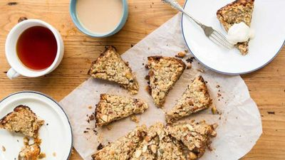 "<a href=""http://kitchen.nine.com.au/2016/12/20/10/22/slow-cooker-muesli-slice"" target=""_top"">Slow cooker muesli slice</a><br> <a href=""http://kitchen.nine.com.au/2016/12/22/08/05/sarah-wilsons-sugar-free-tips-for-the-new-year"" target=""_top""><br> RELATED: Sarah Wilson's sugar-free tips for the New Year</a>"