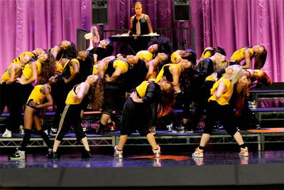 """<B>From the episode...</B> 'Hairography'<br/><br/><B>Why it sucks:</B> Admittedly, this number was <I>meant</I> to be tacky — sung by a rival glee club from the Jane Addams Academy, it was intended eant to demonstrate the dangers of """"hairography"""", that is, a performance where you toss your hair dramatically instead of actually performing. That doesn't make the tackiness okay, though."""