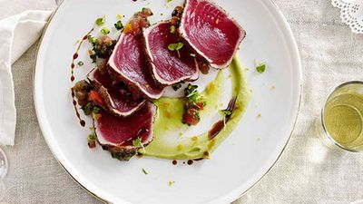"Recipe:&nbsp;<a href=""http://kitchen.nine.com.au/2016/05/16/13/37/tuna-carpaccio-la-zingara"" target=""_top"">Tuna carpaccio ""la zingara""</a>"