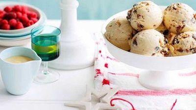 "Click through for our&nbsp;<a href=""http://kitchen.nine.com.au/2016/05/05/15/40/christmas-pudding-semifreddo"" target=""_top"" draggable=""false"">Christmas pudding semifreddo</a>&nbsp;recipe"