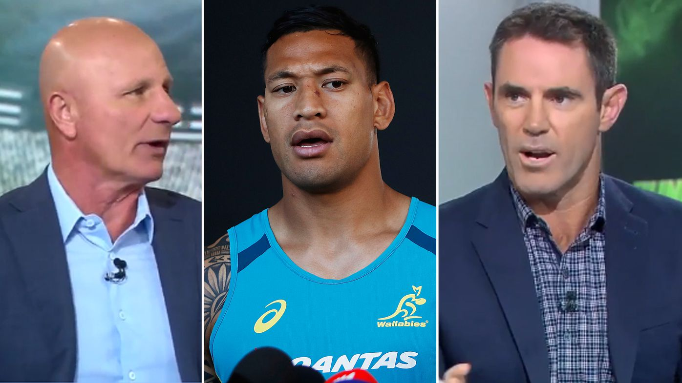 NRL legends Peter Sterling and Brad Fittler divided over Israel Folau