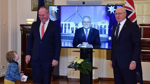 Barnaby Joyce son talking to him