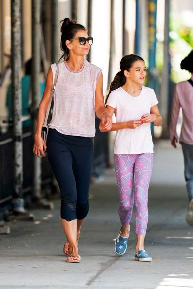 Katie Holmes and Suri Cruise on July 22, 2019.