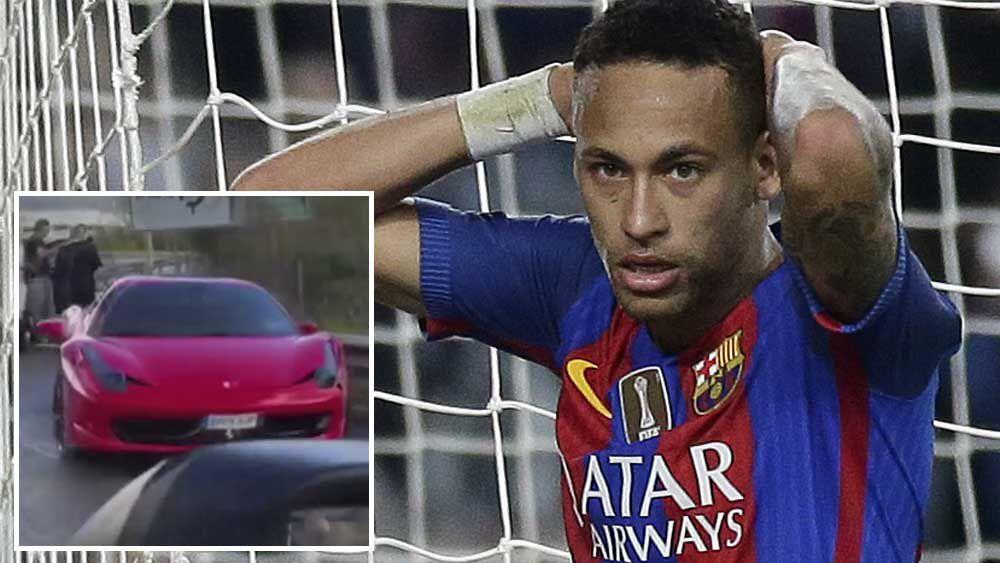 Football: Neymar starts for Barca despite Ferrari smash