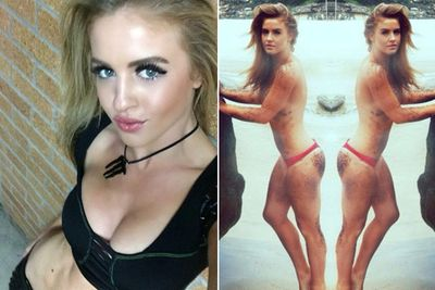 You'll know Jordan as the runner-up of 2011's <i>Beauty and the Geek Australia</i>, but she's also a model and dance teacher.<br/><br/>She's currently the face of UK brand Sik Silk, Statement AU and Body Tea Australia (pictured on the right). Jordan is also a cheerleader for NBL Sydney Kings and the NRL Cronulla Sharks... and of course, she gets up on the bar to dance at Coyote Tuesdays in Kings Cross.<br/><br/>Images: Instagram