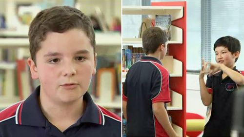 Canberra boy who learned sign language to help deaf friend recognised with award