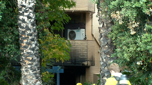 The blaze caused an explosion which caused more than $250,000 of damage to the apartment block.