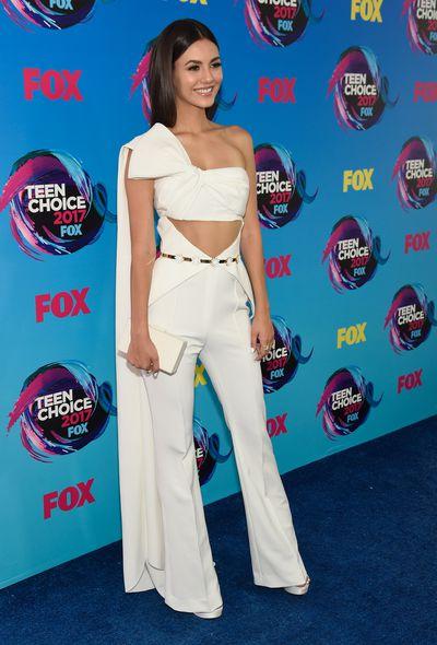 Victoria Justice in Nicolas Jebranat the 2017 Teen Choice Awards, LA