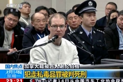 Robert Lloyd Schellenberg is handed the death sentence in Dalian Intermediate People's Court, China.