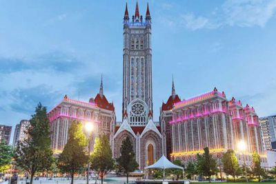 Terminal Tower re-imagined in a Gothic design