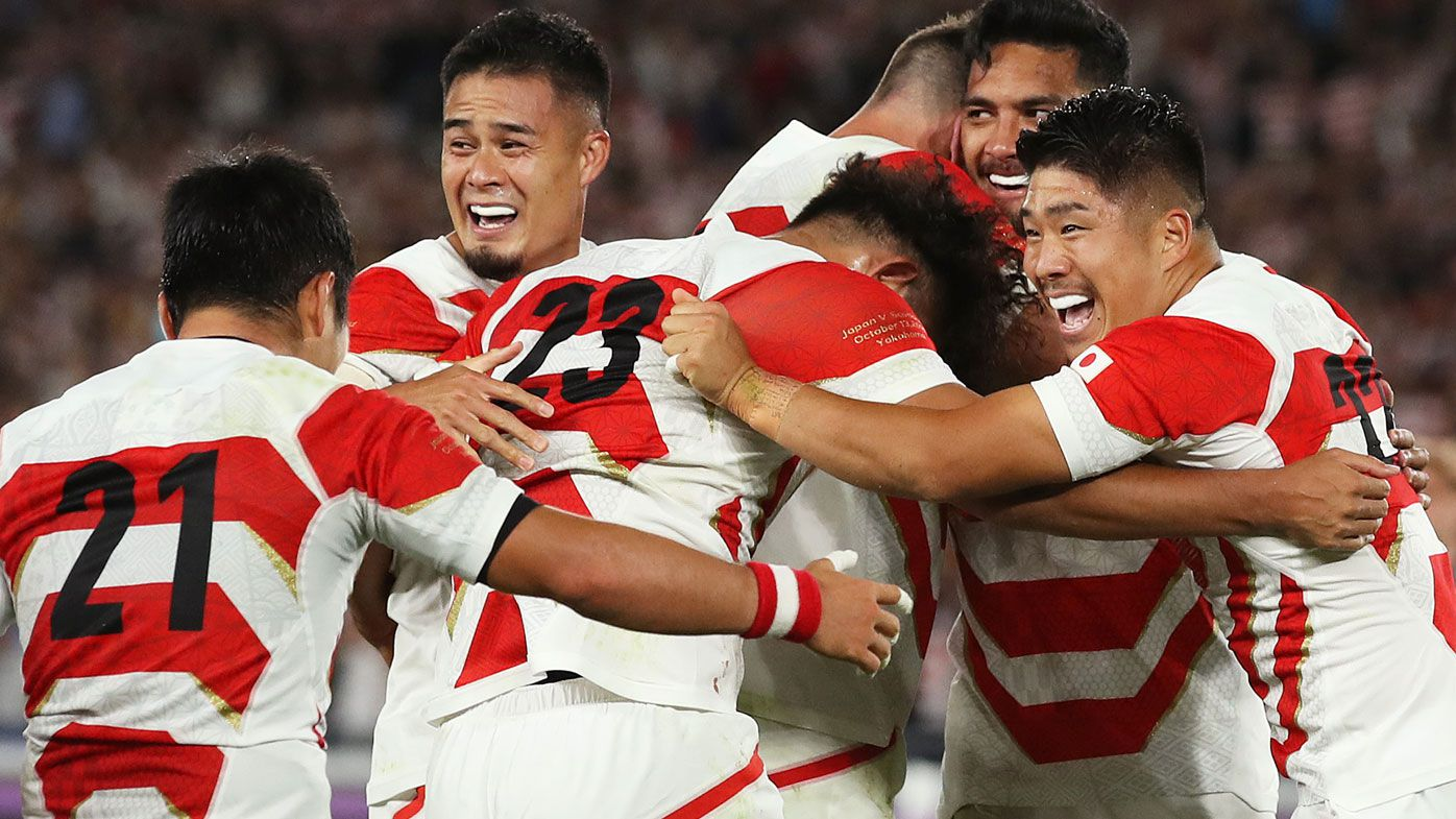 Japan make history to advance to Rugby World Cup quarter-finals