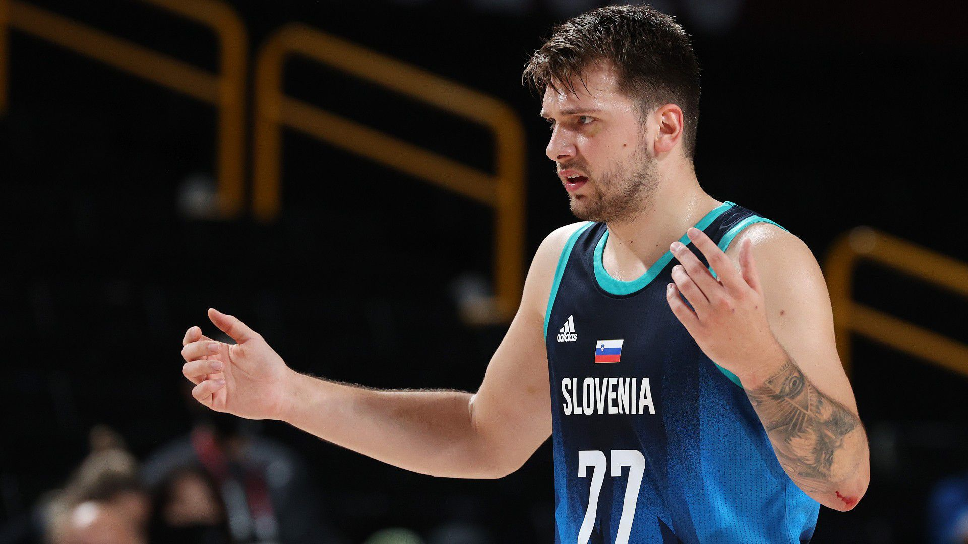 Slovenia star Luka Doncic fumes at FIBA rules after loss to France in Olympic semi-final