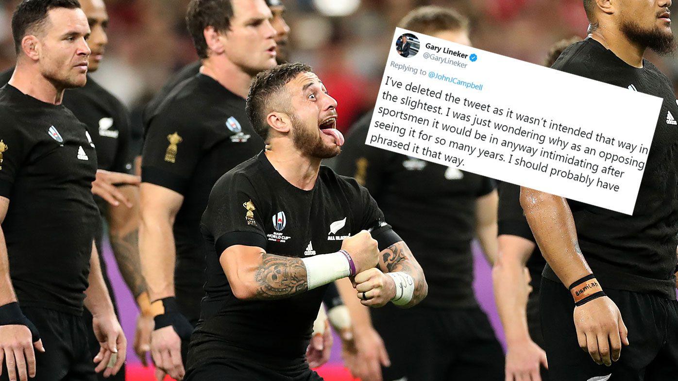 Rugby World Cup: Football great Gary Lineker slammed for 'ignorant' haka swipe
