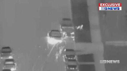 Video shows the woman being flung from her convertible.