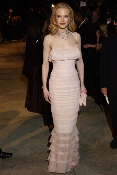 Nicole Kidman in Chanel  at the 2002 Vanity Fair Oscar Party<br>
