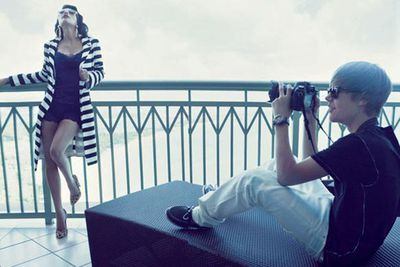 Cougar-iffic! Justin Bieber and Kim Kardashian's sexy photo shoot sent tweens into a frenzy.<br/>