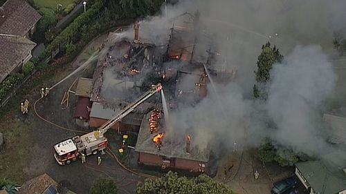 The fire is now under control. (9NEWS)