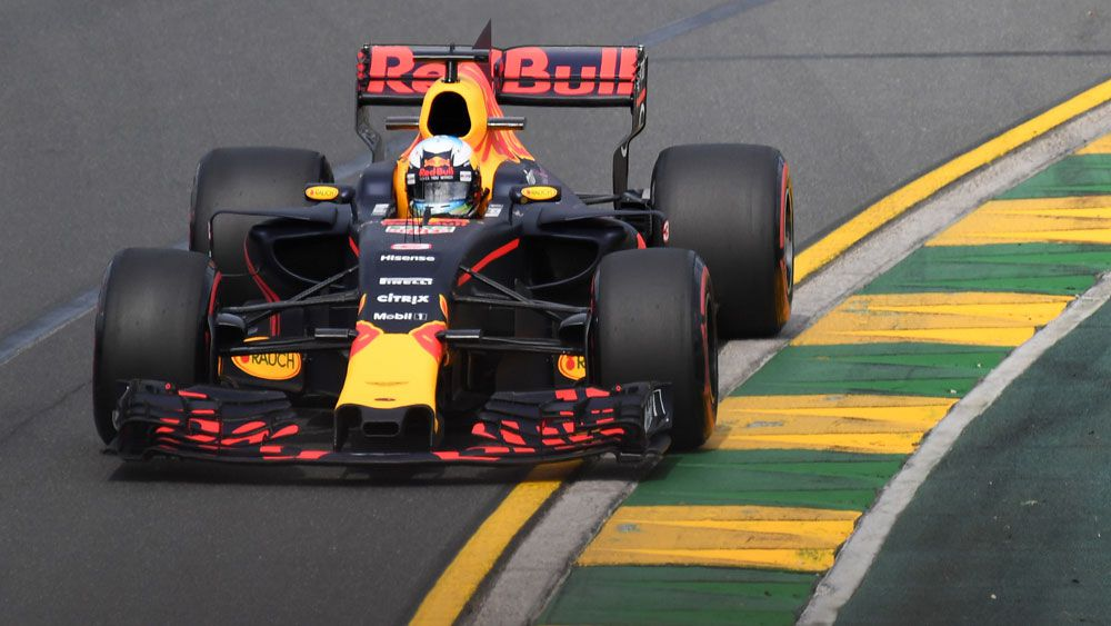 Australian driver Daniel Ricciardo has clocked the third-fastest time in the first practice session at Formula One's season-opening grand prix in Melbourne.