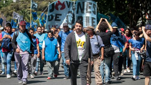 Protests have been held in Argentina amid austerity measures over the financial crisis.