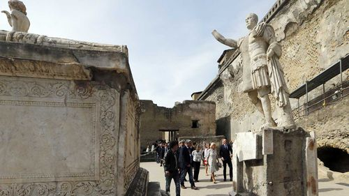 Herculaneum was buried under volcanic ash and lava.