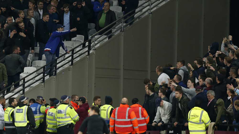 Seven arrested after violence mars EFL Cup