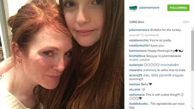Julianne Moore with her daughter Liv
