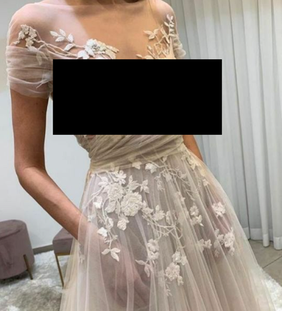 The wedding gown has caused controversy on a Facebook shaming page.