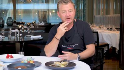 Chef Luke Mangan talks about his Liquorice lime dessert
