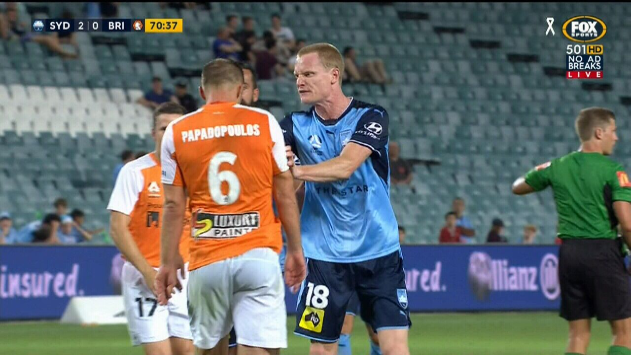Simon and Papadopoulos sent off for spit fight
