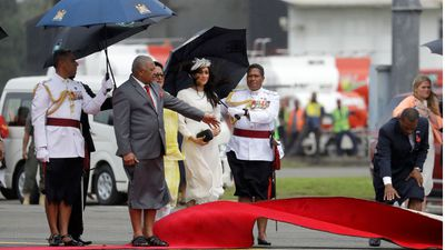 Roll up: Royals arrive with Fiji battling elements