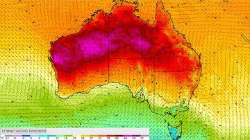 Australia weather forecast BoM Queensland heatwave record March temperatures