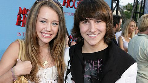 Mitchel Musso and Miley Cyrus
