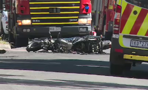 The 33-year-old motorcyclist was left for dead. (9NEWS)