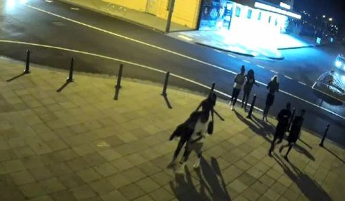 The youths were hanging around in the area before the violent bashing at 10.30pm.