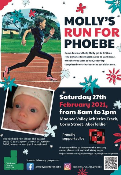 Molly's Run for Phoebe flyer