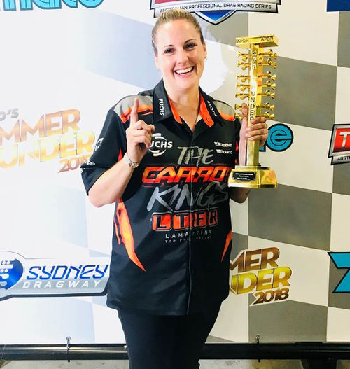 Bettes, now 33, is aiming to become the first woman to win the Top Fuel championship. (Supplied)