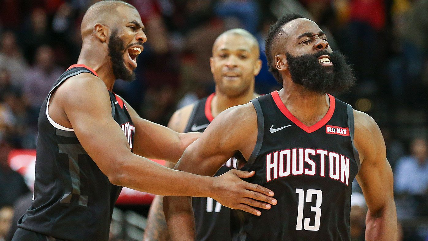 4e5371792be James Harden creates NBA history with fourth career 50-point triple-double  in Rockets