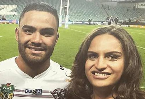 Sea Eagles star Dylan Walker with his sister, Jade. Jade faced court today charged over her boyfriend's death on the weekend. Picture: Instagram