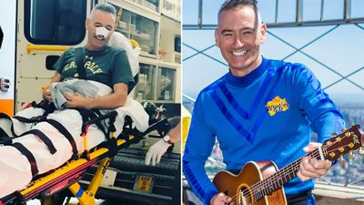 Blue Wiggle hospitalised after run-in with revolving door