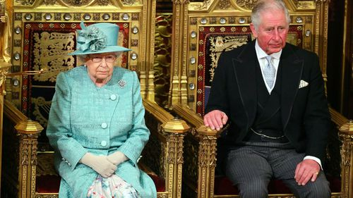 Queen Elizabeth and Prince Charles at the 66th State Opening of Parliament 3