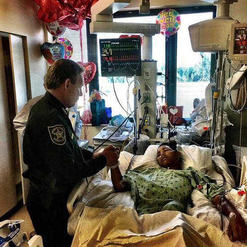 The Broward County Sheriff posted a picture of Anthony recovering in hospital on Facebook.