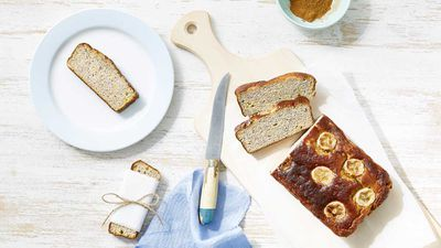 "Recipe: <a href=""https://kitchen.nine.com.au/2018/01/11/15/28/banana-bread"" target=""_top"">Healthy banana bread</a>"